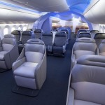 A look at the interior of the Boeing 787