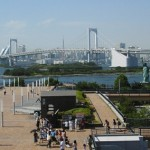 The island of Odaiba.