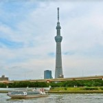 Water taxi in Tokyo.